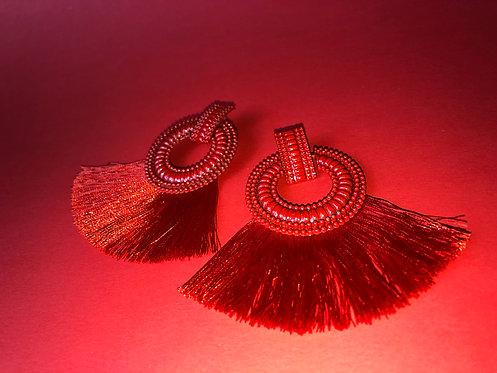 Dahlia Tassel Earrings