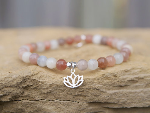 Lotus Moonstone Bracelet