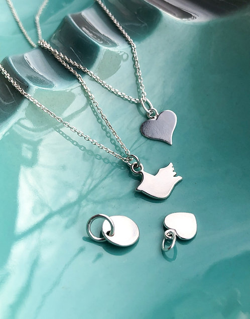 Kid's Personalizable Pendant with Chain