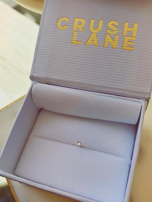 14k Gold Bezel Set Nose Stud with Diamond
