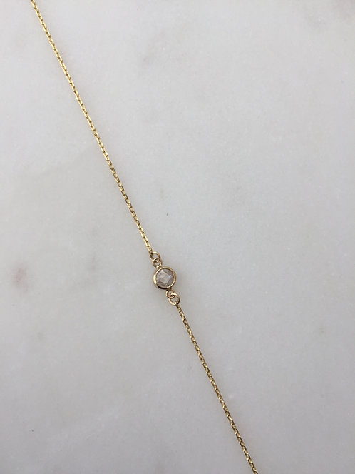 Dainty Gold Chain with Cubic