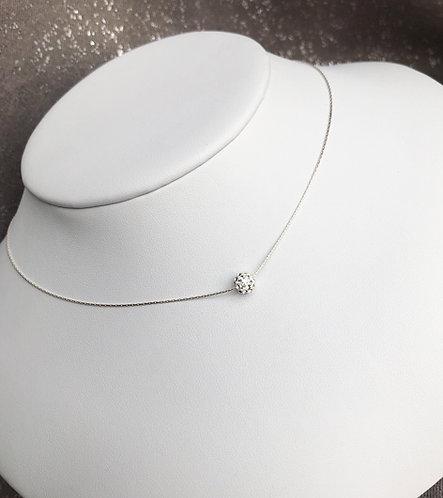 Dainty Crystal Ball Collar Necklace