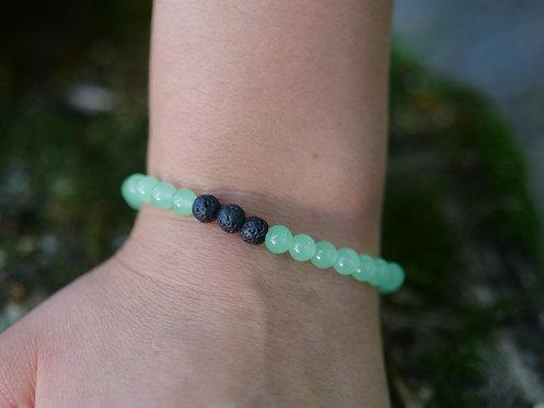 Green Jade Diffuser Bracelet