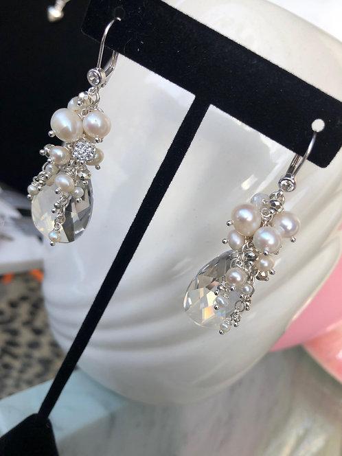 'Divine' Swarovski Cluster Earrings