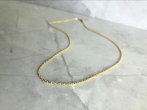 10k Yellow Gold Diamond Cut Anchor Chain