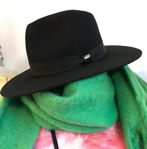 Black Wool Panama Hat