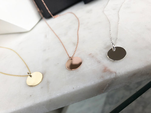 Classic Disc Pendant with Chain