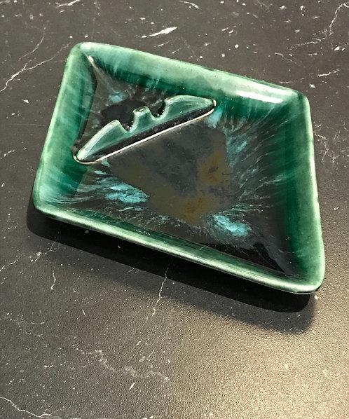 Vintage Dark Green Diamond Catch Tray