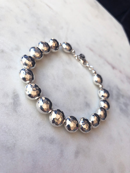 Hammered Bead Bracelet