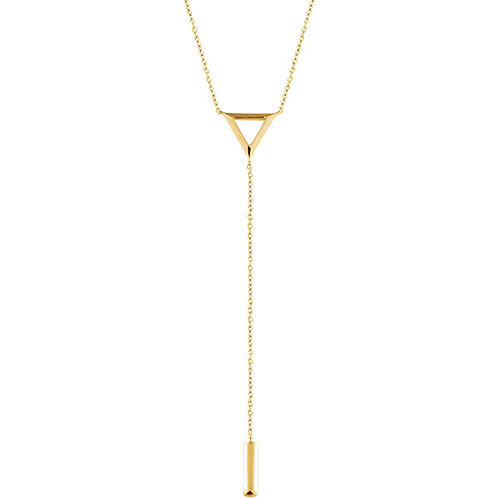 14k Gold Open Triangle Lariat