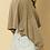 Thumbnail: Round Neck Dolman Long Sleeve Crop Top
