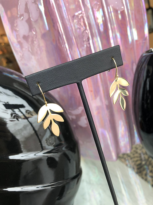 'Leaflet' Dangle Earrings