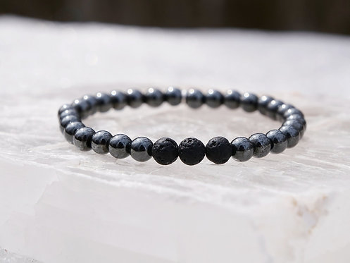 Hematite Diffuser Bracelet