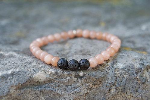Pink Moonstone Diffuser Bracelet