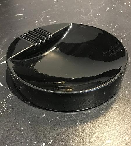 Vintage Large Black Round Catch Tray