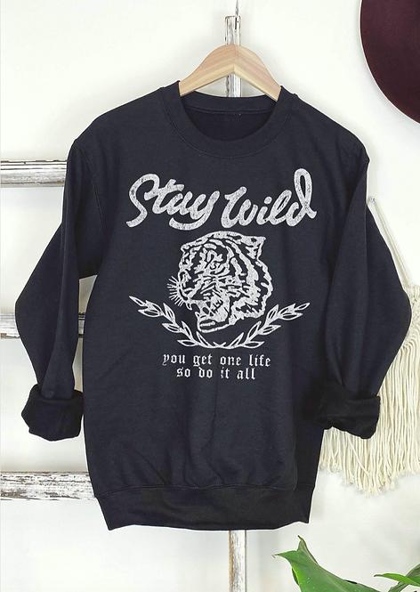'Stay Wild' Graphic Sweatshirt