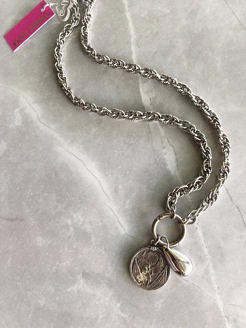 Silver Eagle Medallion Neckpiece