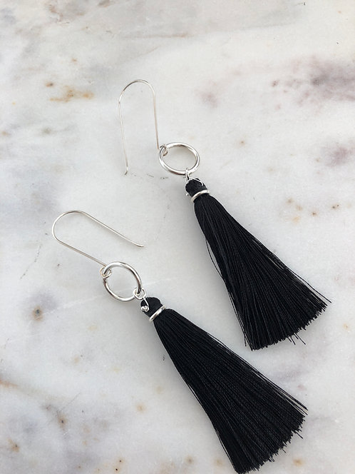 Tassel Earrings on Jumbo Ring