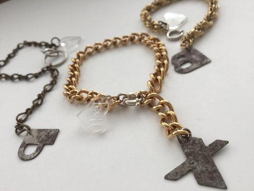 Deco Alpha Dangle Bracelet
