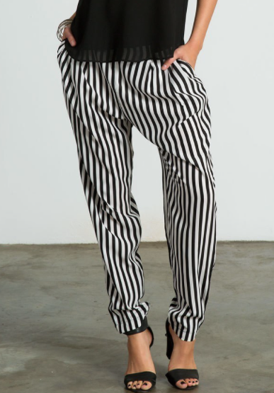 Black and White Pin Striped Trouser