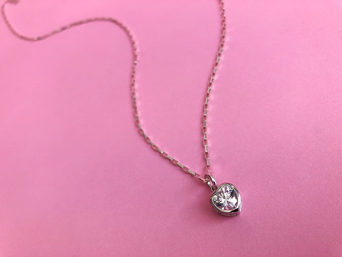 Silver Soli Heart Necklace
