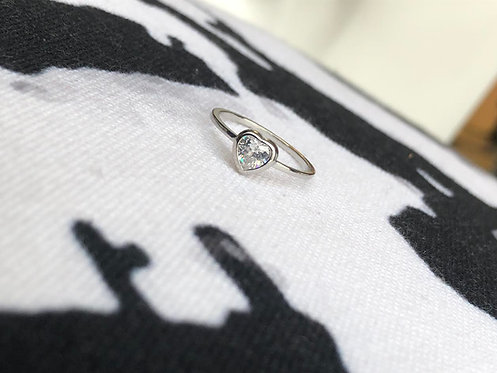 Silver Soli Heart Ring
