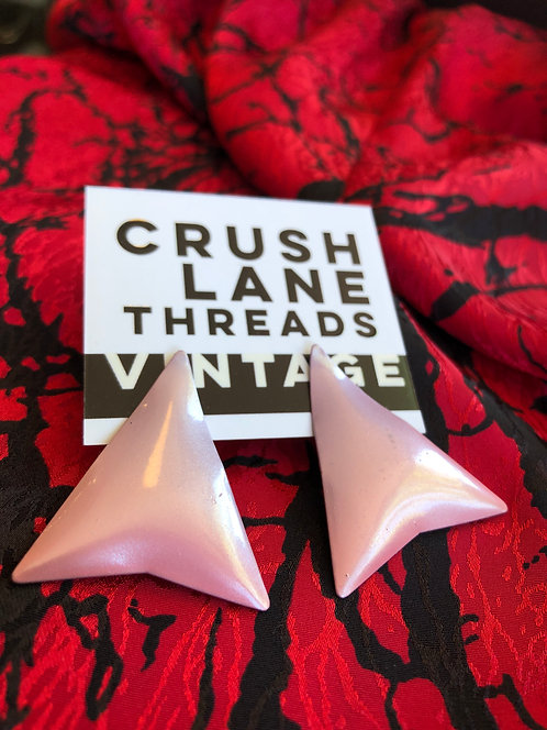 Pink Triangle Earrings