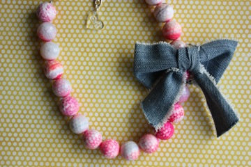Neon Agate with Chunky Jean Bow