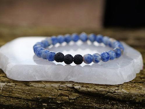 Blue Jasper Diffuser Bracelet