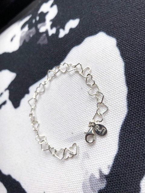 Kid's Silver Heart Link Bracelet