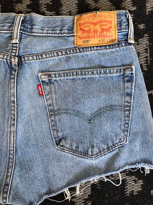 'Levis' 505 Denim Cutoff Shorts