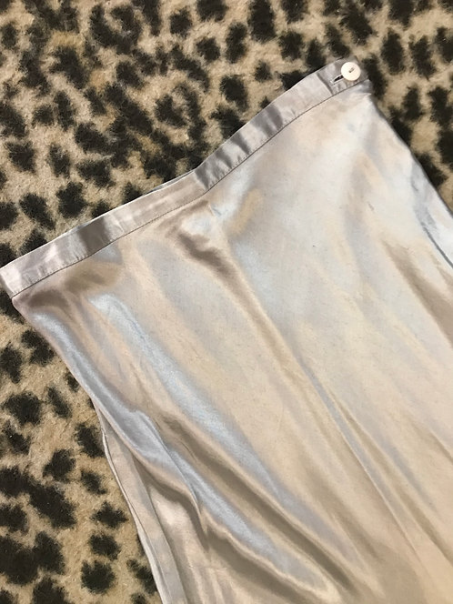 Silver Satin 'Le Chateau' Skirt