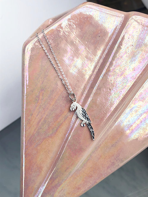 Silver Flat Parrot Necklace