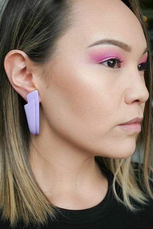 Lavender Triangular Earrings