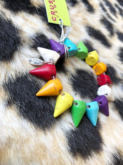 Kid's Rainbow Spike Expandable Bracelet