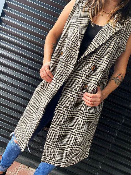 Hounds Tooth Jacket Vest