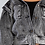 Thumbnail: Black Acid Wash Denim Crop Jacket with Enhanced Shoulder