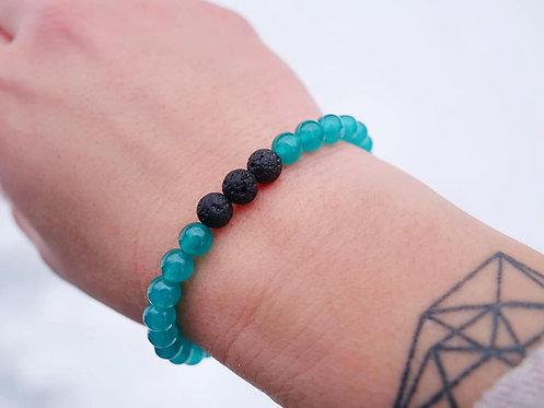 Aqua Jade Diffuser Bracelet