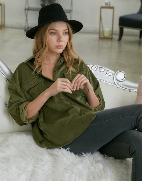 Olive Button-Up Shirt