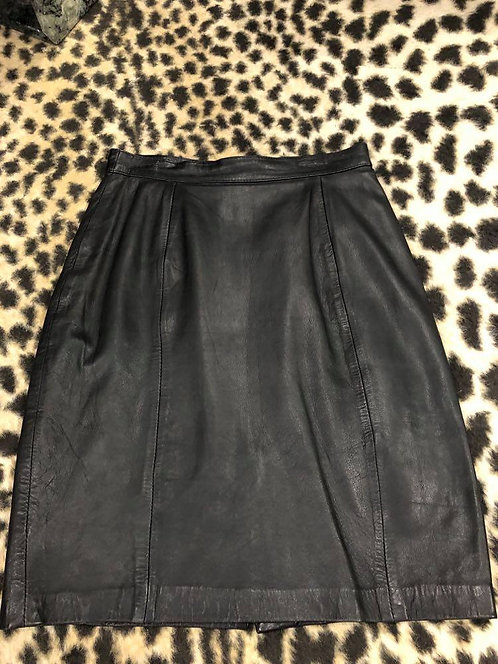 Black Genuine Suede Pencil Skirt Sz 7