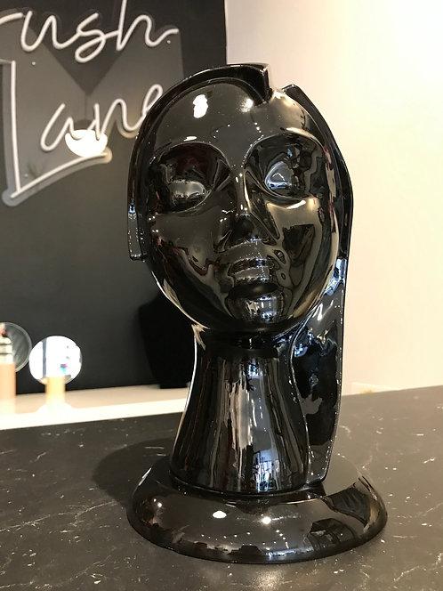 Black Ceramic Lady Vase