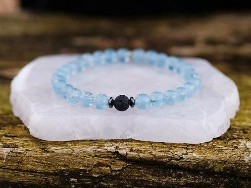 Single Aquamarine Diffuser Bracelet