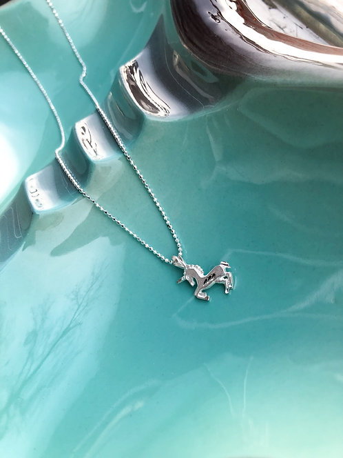 Kid's Mini Unicorn Pendant with Chain