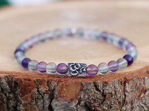 'Om' Fluorite Bracelet
