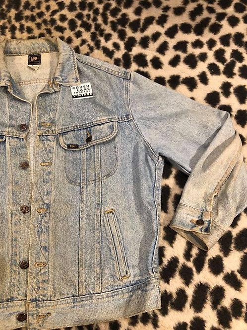 Distressed 'Lee' Denim Jacket Sz M
