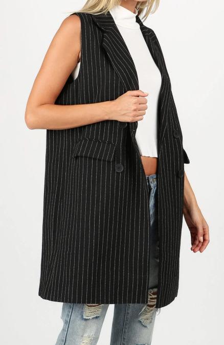 Pin Stripe Blazer Vest