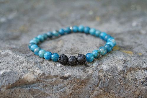 Blue Apatite Diffuser Bracelet