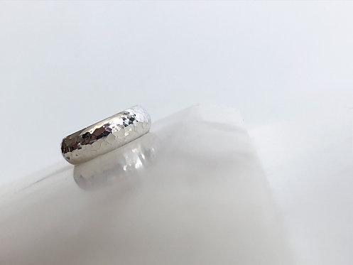 Half Round Band with Hammered Finish