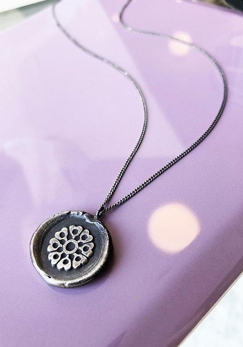 Fine Silver 'Heart Mandala' Medallion Pendant