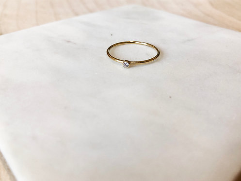 14k Gold Filled Dainty Soli Ring